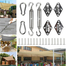 More details for 8x stainless steel outdoor garden sun sail shade canopy fixing fittings&screws
