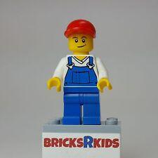 LEGO City Male Minifigure w/ Blue Overalls (cty320) 850425 40081 NEW - RARE