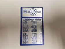 Cincinnati Slammers 1985/86 CBA Basketball Pocket Schedule Card - Pepsi