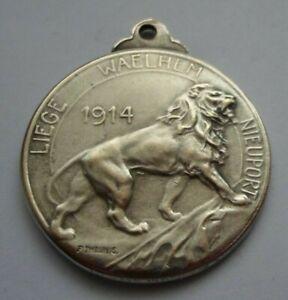 KING  OF BELGIANS ALBERT I  WW1 BATTLES 1914 PATRIOTIC  MEDAL