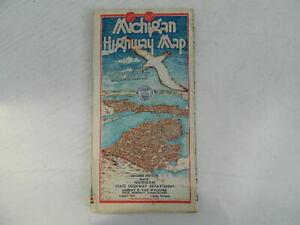 1938 Michigan Highway Map – Unused Condition