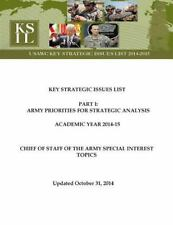 Key Strategic Issues List - CHIEF of STAFF of the ARMY SPECIAL INTEREST...
