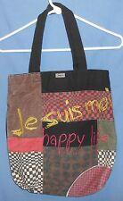 "Desigual ""Happy Life, All Together"" Cotton Shopper Utility Handbag BAG Tote"