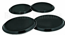 SET OF BLACK HOB COVERS 4PC STAINLESS STEEL ELECTRIC COOKER RING PROTECTOR 7A