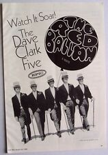 DAVE CLARK FIVE 1968 original poster advert THE RED BALLOON