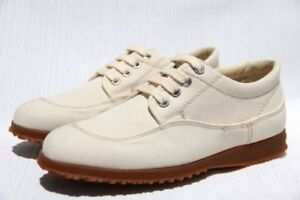 Hogan by TOD'S Chaussure H. Easy Donna Khaki Canvas Sneakers Shoes US 5 / 35 NEW