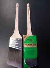 "(6)  2"" Merit Pro Angle Rattail Paint Brush  Polyester Bristles  00079"