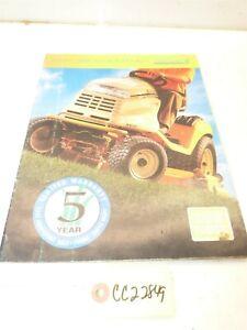 Cub Cadet Series 3000 Garden Tractors Sales Manual