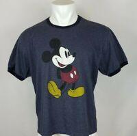 Walt Disney World Men's Size XL Blue Mickey Mouse T-Shirt Short Sleeve Crew Neck