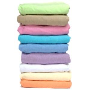 Spannbettlaken mit Rundumgummi Spannbetttuch Bettlaken Jersey 70 - 90 x 160 cm