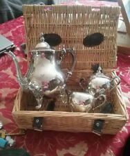 Art Nouveau Tea/Coffee Pots/Set Antique Silver Plate