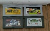 Nintendo Gameboy Advance GBA game LOT Pokemon Shaman King Spongebob Dextars lab