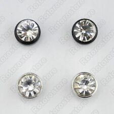 Circle Outline Crystal Magnetic Stud Earrings - Mens Womens Fashion Magnet - NEW