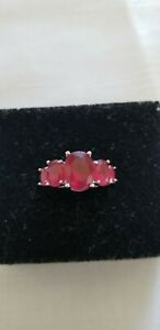 Ruby 5 Stone Ring Size 9