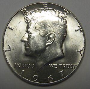 1967 John F Kennedy Silver Half Dollar Choice BU Condition A Real Flashy Beauty