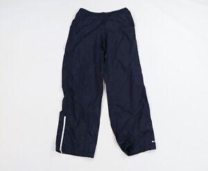 Vintage 90s Nike Mens Large Travis Scott Mini Swoosh Nylon Sweatpants Navy Blue