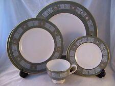 Vintage Wedgwood Asian Green 6 pc Lot Dinner Salad Bread Dessert Plates Tea Cup