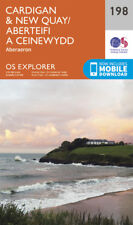 Cardigan and New Quay Aberaeron 198 Explorer Map Ordnance Survey With Digital Do