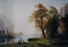 "Albert Bierstadt, ""King's River Canyon, California"", poster, 22""h x 32""w image"
