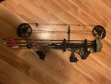 Matthers mission craze 2 has monkey tails on strings, limb savers. 30-70lb draw