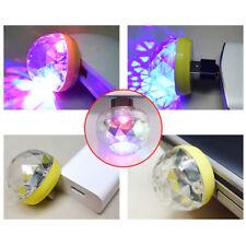 Mini fiesta disco luz Bola Teléfono Móvil USB Sonido Control CRISTALES Bombilla