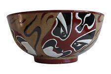 "Beautiful Chinese Mask Style Porcelain Bowl 12"" Diameter"