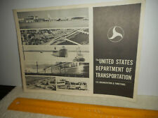 1967 United States Department of Transportation Organization Functions Brochure