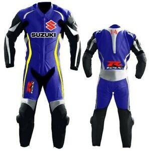 GSXR SUZUKI Men Biker Leather Suit Motorbike/Motorcycle Leather Jacket Trouser