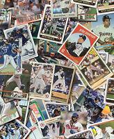 1970-2020 Baseball Card Random Lot 50 Cards (All-Stars, HOFs, Rookies, Relics)