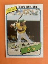 1980 Topps Rickey Henderson RC #482  Rookie Oakland A's