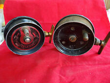 A PAIR OF SCARCE VINTAGE UNIVERSAL CENTREPIN SIDECASTER REELS