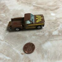 Vintage Yatming Chevy Stepside, Gold Eagle brown truck hong kong tailgate Toy