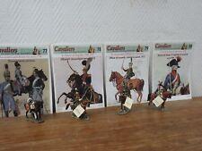 4x DEL PRADO Cavaliers des Guerres Napoleoniennes + Fascicules (77 78 79 80)