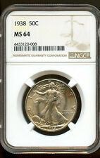 1938 Walking Liberty Half Dollar 50c NGC MS64