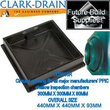 CLARK RECESSED SQUARE TO ROUND BLOCK PAVING MANHOLE COVER CD300SR 300x300x80mm