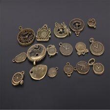 Zinc Charms Vintage Jewelry Making Mixed Clock Pendant Steampunk Clock Pendant