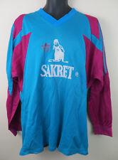 Vtg Adidas 80s 90s Football Shirt 3 Stripe Retro Soccer Jersey Trikot Maglia XL