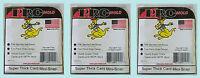 3 PRO MOLD 10 COUNT MINI SNAP PC10 NEW Super Thick Sport Card Storage Box 180pt