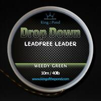 Weedy green lead free leader 40lb - 10m - carp fishing, carp rigs
