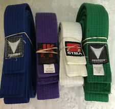 Karate Belts Lot Of 4 Thunder GMTA JK