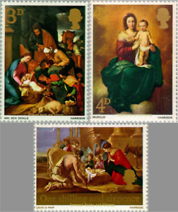 EBS Great Britain 1967 - Christmas 1967 - Paintings - SG 756-758 MNH**