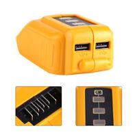 Phone Charger Adapter Li-ion Battery Power bank 14.4V 18V 20V For Dewalt DCB090