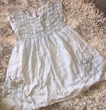 Girls Light Blue Linen Denim Look NEXT Summer Dress Top Detail Tunic 5-6yrs