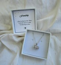 Gift for a friend jewellery elephant pendant silver plated chain gift boxed