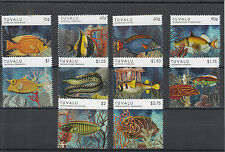 Tuvalu 2012 Mnh peces definitives 10v Set valores bajos marinos