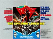 "JAMES BOND -The Spy Who Loved Me 1977-British Quad 30"" X 40"" Seiko Watch VERSION"