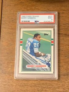 PSA 9 Topps Traded Barry Sanders #83T RC Rookie Card Detroit Lions NFL HOF