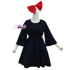 Costume Anime Kiki's Delivery Service Navy Blue Cosplay Women Party Dress