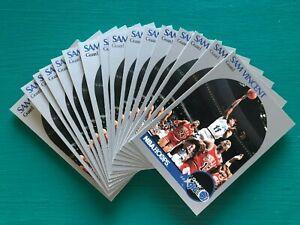 (16) 1990 Hoops Sam Vincent MICHAEL JORDAN Jersey #12 Basketball Error Cards Lot