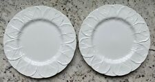 Coalport China, Country Ware, 2 Dinner Plates, England, Cabbage Leaves, White